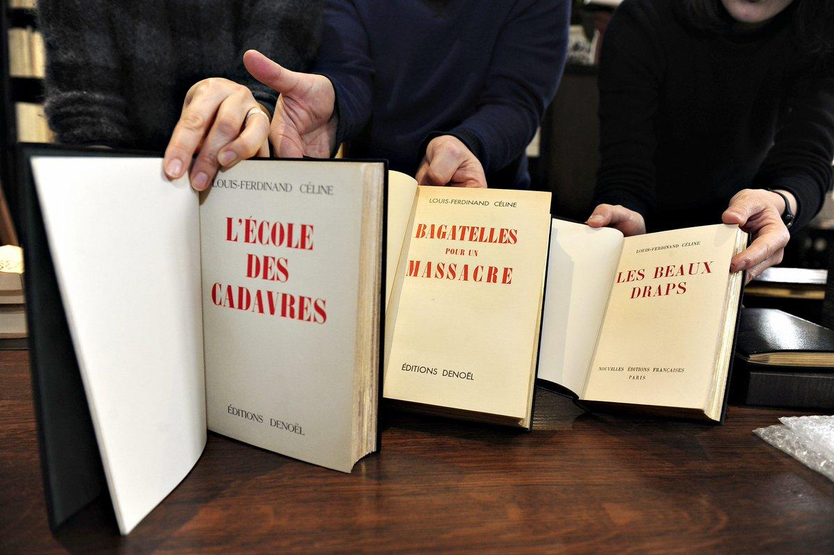 Editions anciennes des pamphlets antisémites de Louis-Ferdinand Céline, chez des libraires Orléanais.