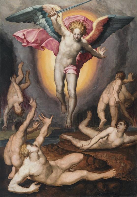 Marco Pino, L'Archange saint Michel, 84,5 x 122 cm, galerie Porcini.