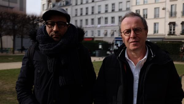 """Lemine Ould Salem et François Margolin, les réalisateurs de """"Salafistes""""."""