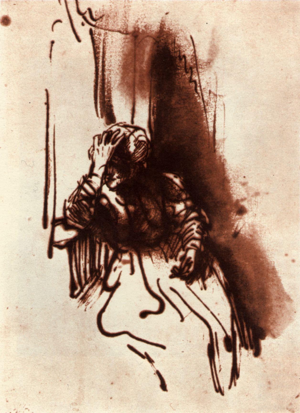 Rembrandt-Femme-assise-a-une-fenetre