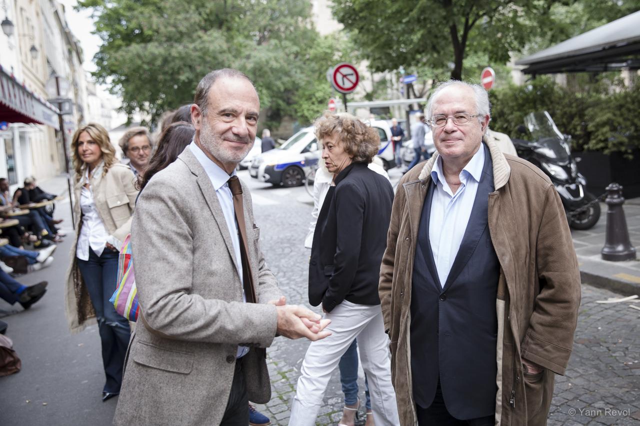 Gerard-Miller-et-Jacques-Alain-Miller-lors-de-l-avant-premiere-de-Peshmerga-de-bhl