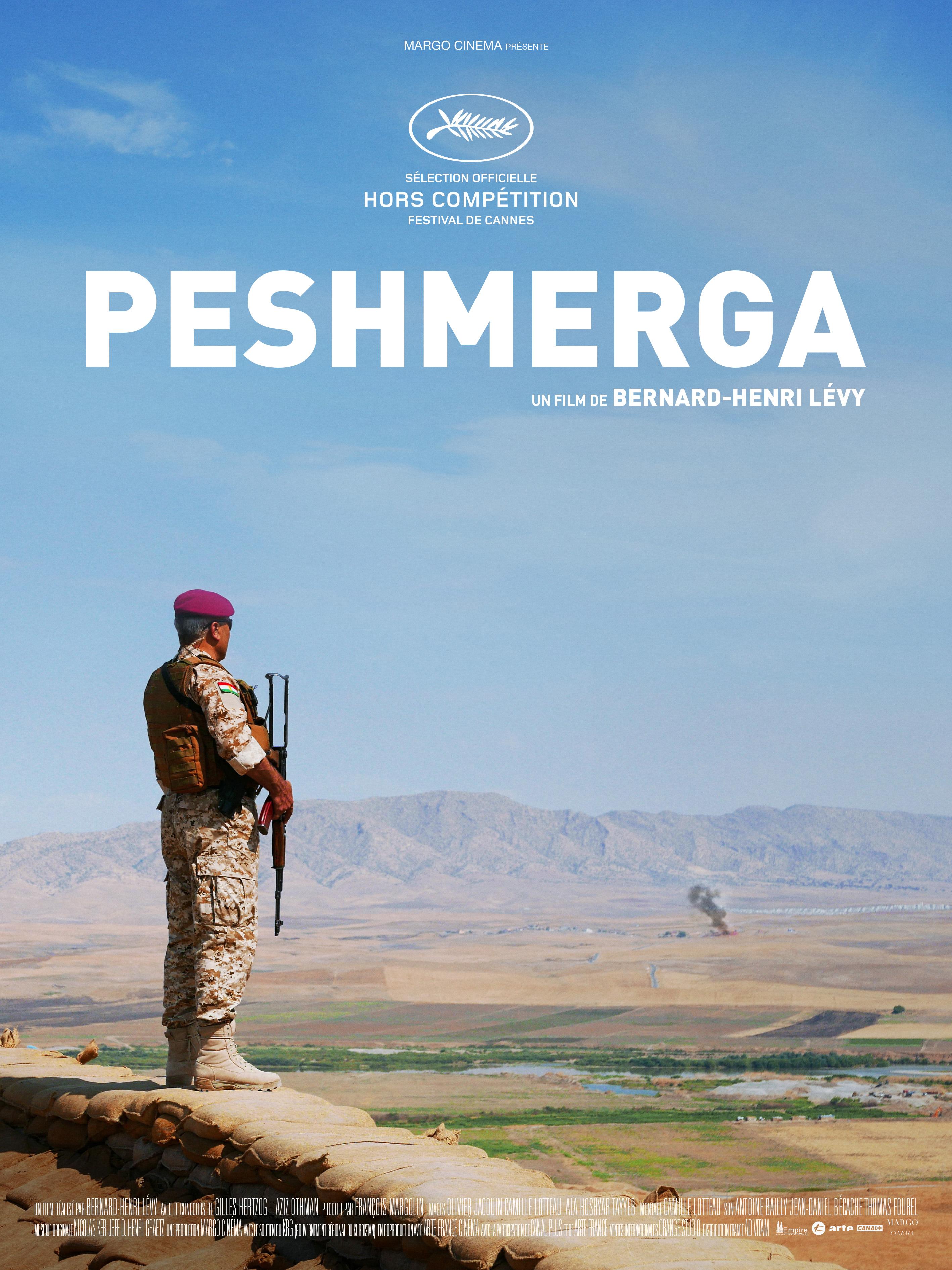 """Affiche du film """"Peshmerga"""" de Bernard-Henri Lévy, en sélection officielle du Festival de Cannes 2016."""