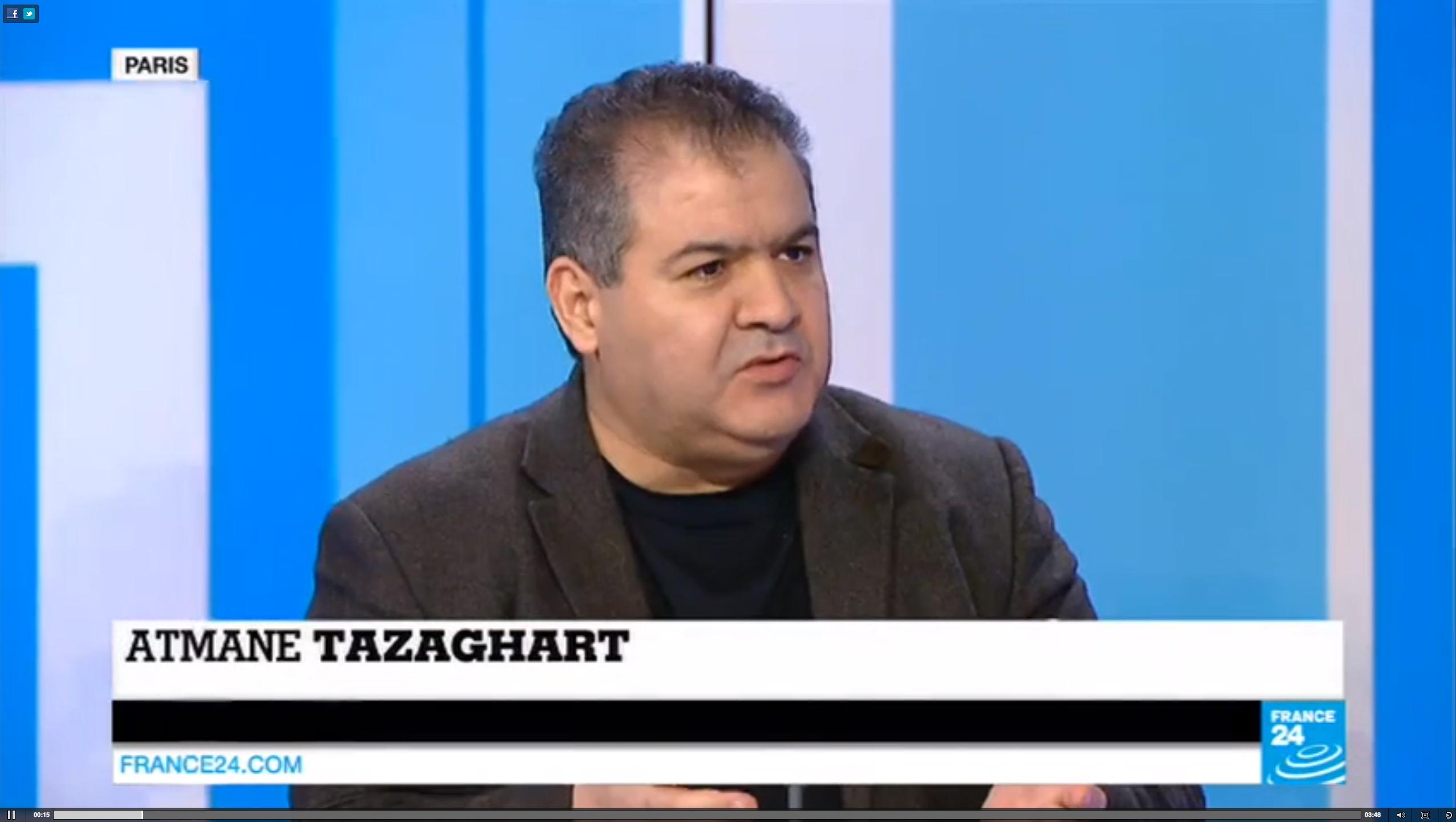 Atmane Tazaghart, rédacteur en chef de France 24 arabe.