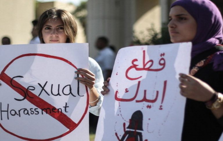 Manifestation contre le harcèlement sexuel au Caire, Égypte. Le 14 juin 2014.