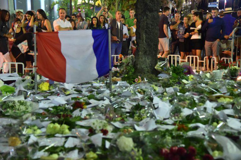 Hommage aux victimes de l'attaque du 14 Juillet 2016 qui a fait 84 morts sur la promenade des Anglais, à Nice.