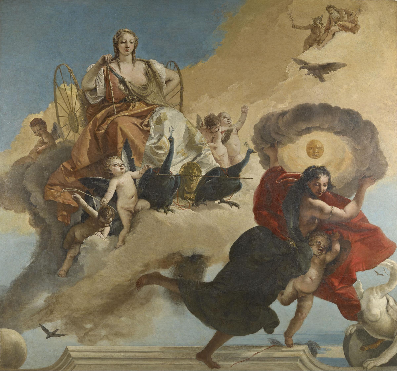 Le char de Junon par Tiepolo.