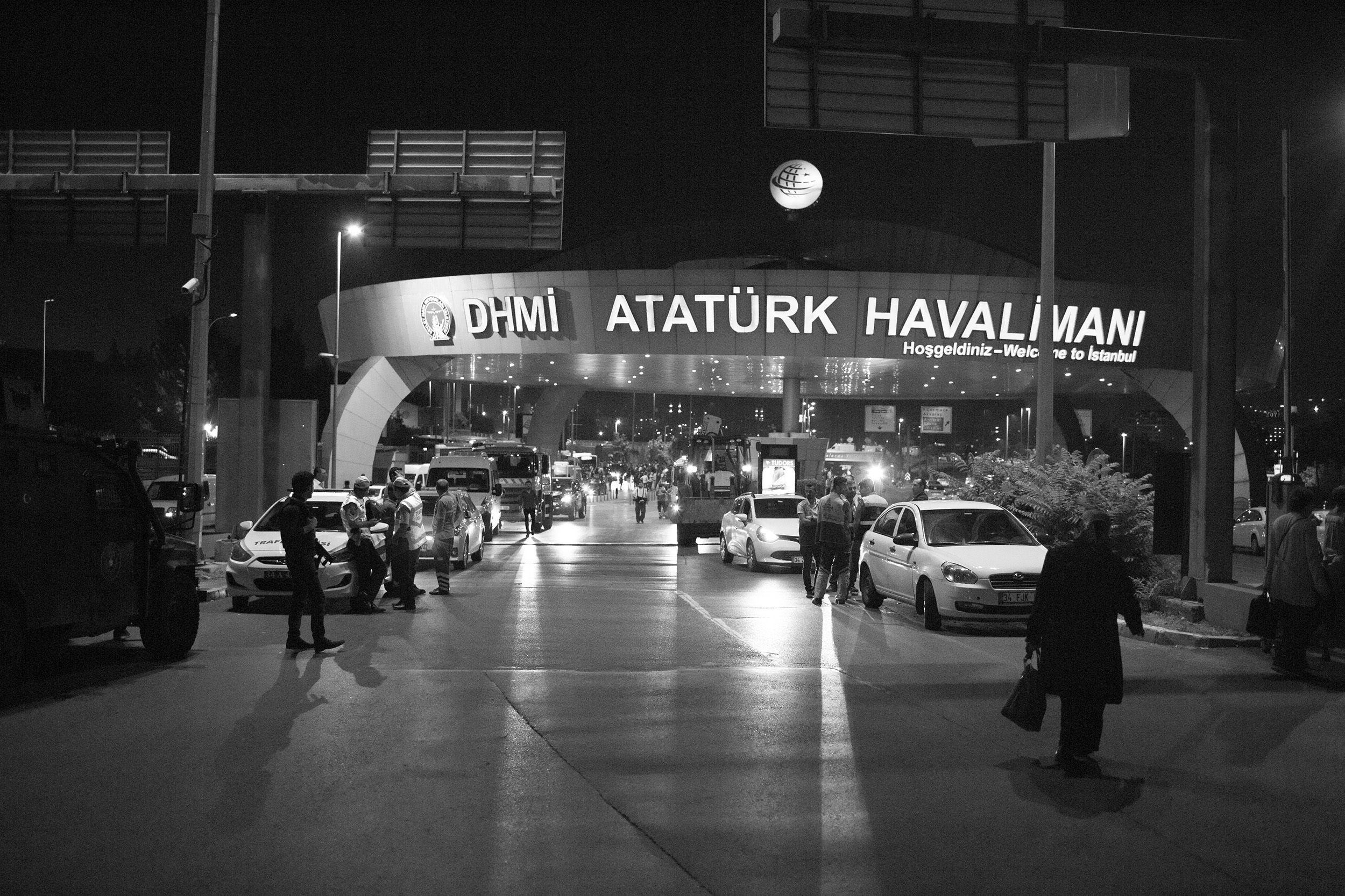 Istanbul, Attatürk, le 28 juin 2016. Attentats au terminal international. Photo : Marc Roussel