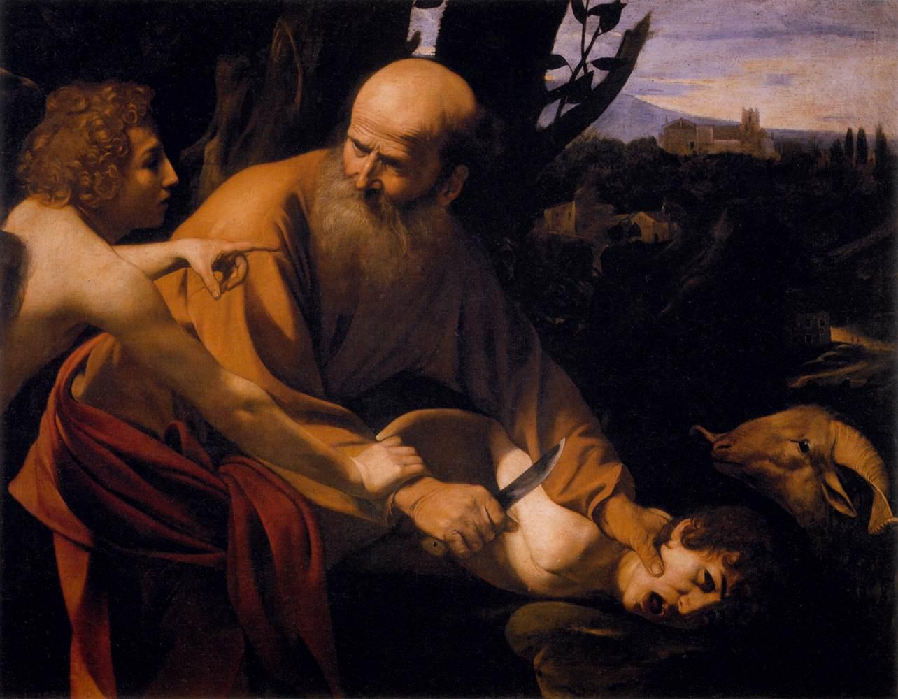 """Le Sacrifice d'Isaac"", le Caravage,1603, Florence"