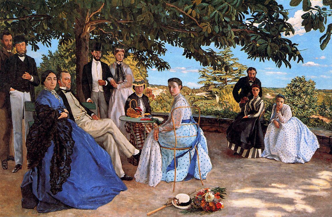 Bazille-La-Reunion-de-Famille-1867-1868-152x230cm-Paris-musee-d-Orsay