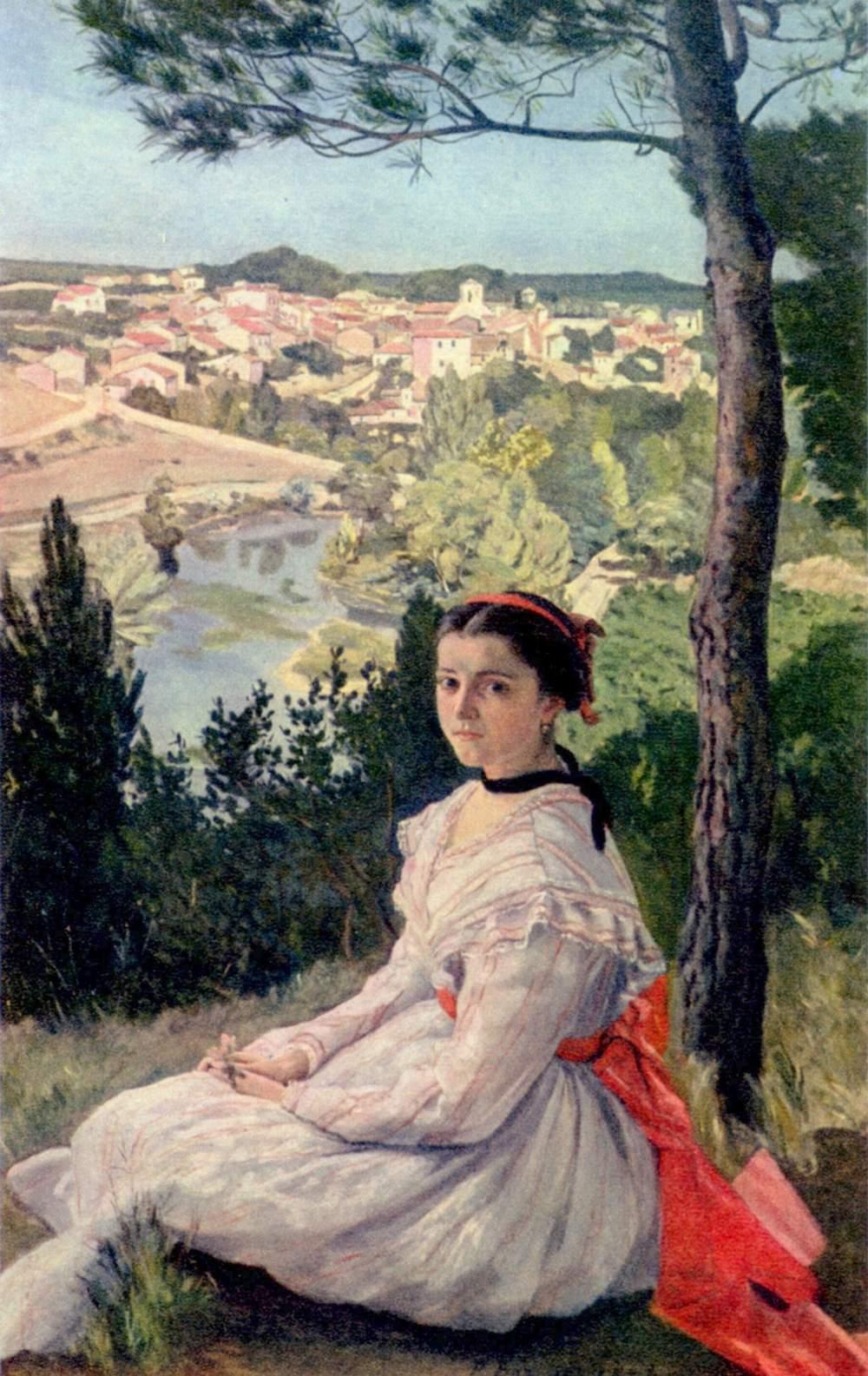 Bazille-La-vue-de-village-1868-130x89-cm-Montpellier-musee-Fabre