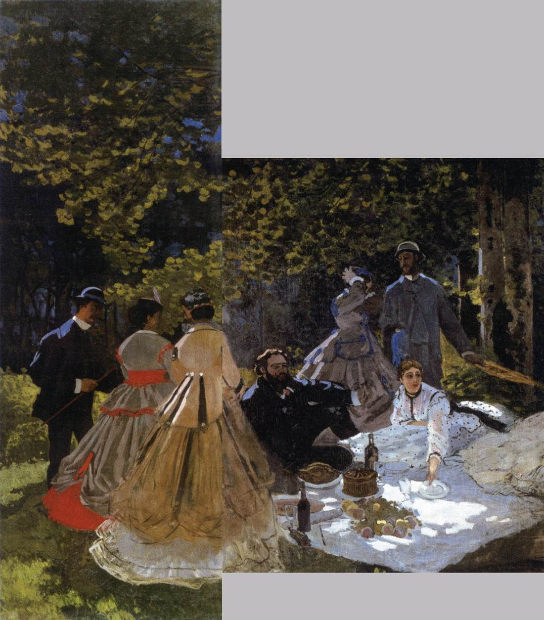claude-monet-le-dejeuner-sur-l-herbe-the-picnic-two-parts
