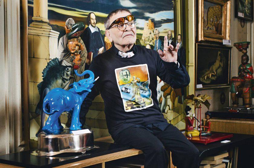 Portrait de Fernando Arrabal à son domicile. Photo : Audoin Desforges