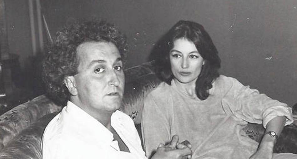 Jean-Michel Gravier, le héros du roman de Lisa Vignoli, et Anouk Aimée.
