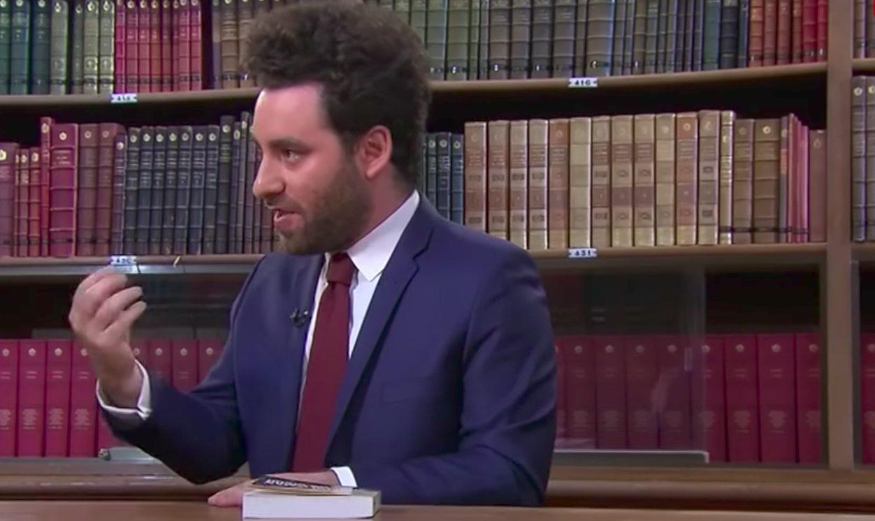 """David Haziza. Capture d'écran de l'émission """"Blibliothèque Médicis"""" du 9 juin 2017."""