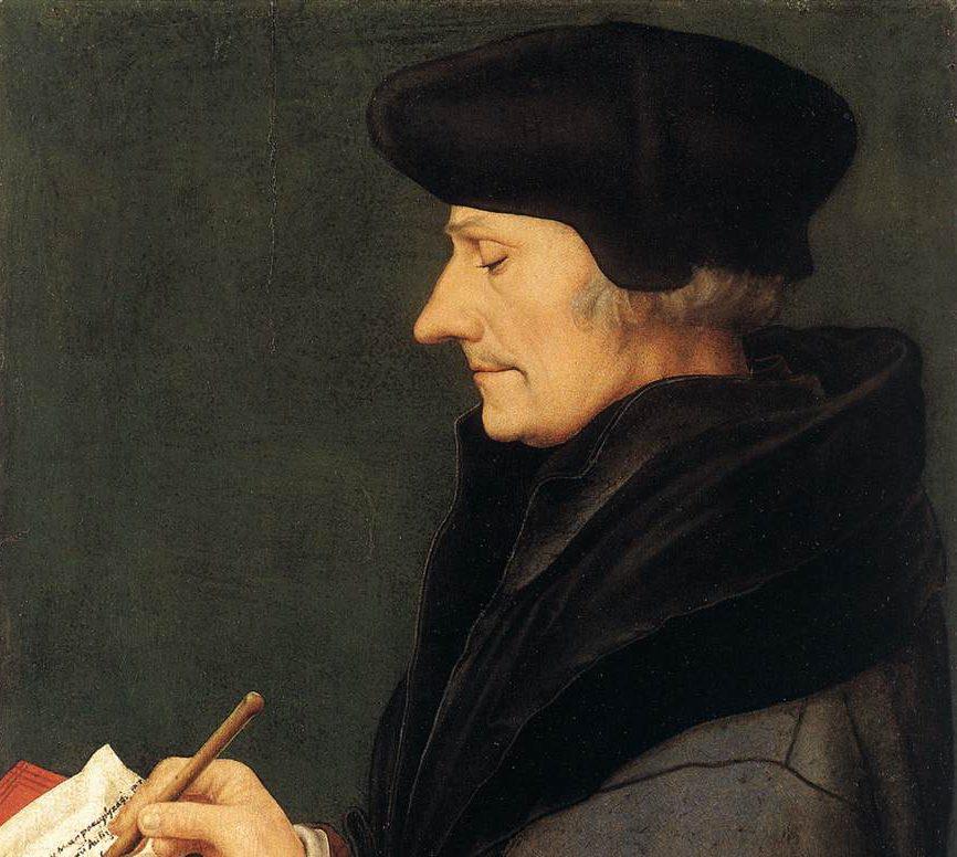 Erasme par Hans Holbein le Jeune.