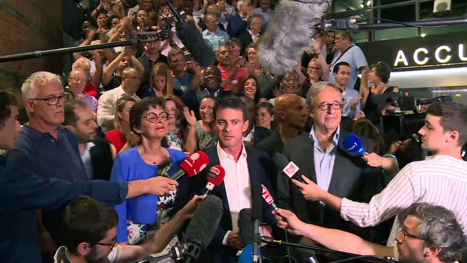 Manuel Valls lors des législatives 2017