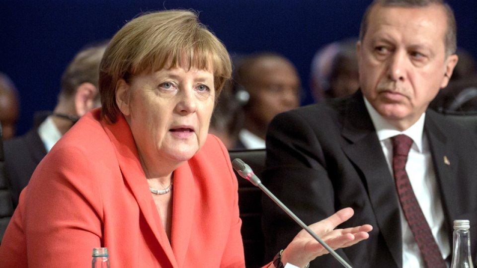 La chancelière allemande Angela Merkel et le président turc Recep Erdogan.