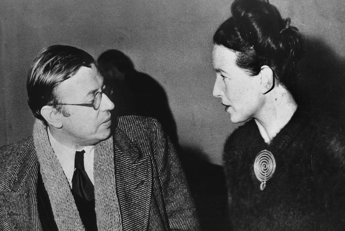 Jean-Paul Sartre et Simone de Beauvoir en 1945.
