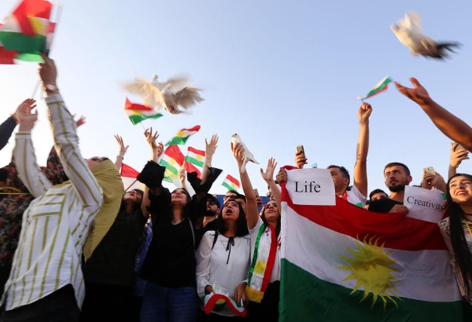 Manifestation kurde à Erbil