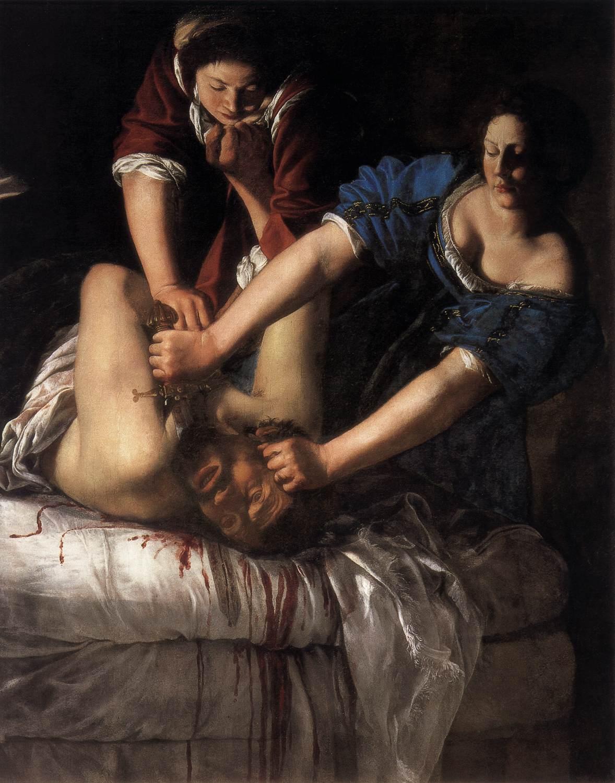 "Judith décapitant Holopherne"", Artemisia Gentileschi, 1612. - Musée national Capodimonte de Naples."