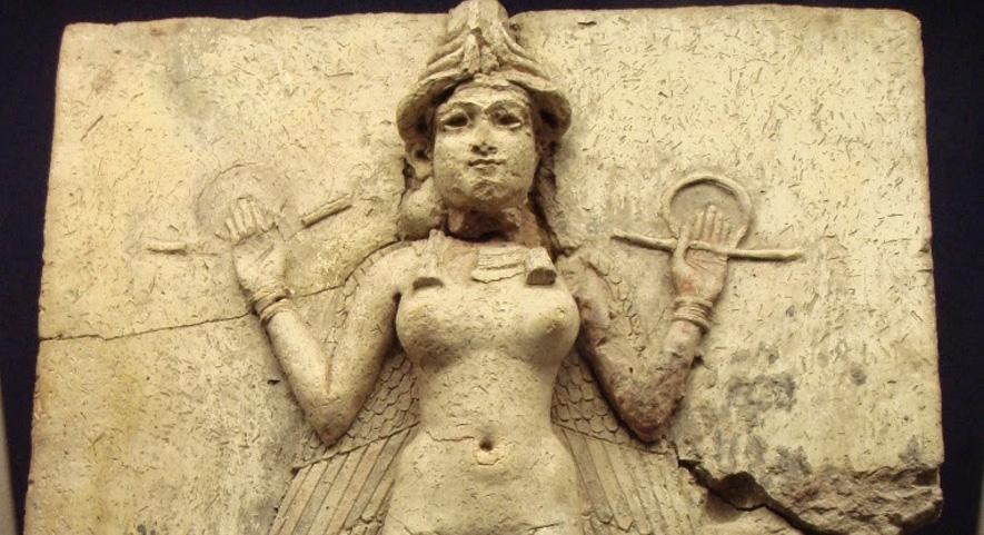 La déesse mésopotamienne Ishtar. Ancêtre des guerrières kurdes de notre époque ?