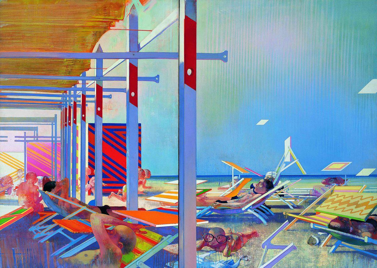 Les écrans du soleil, 1967-1968, huile sur toile, 197 x 273 cm.