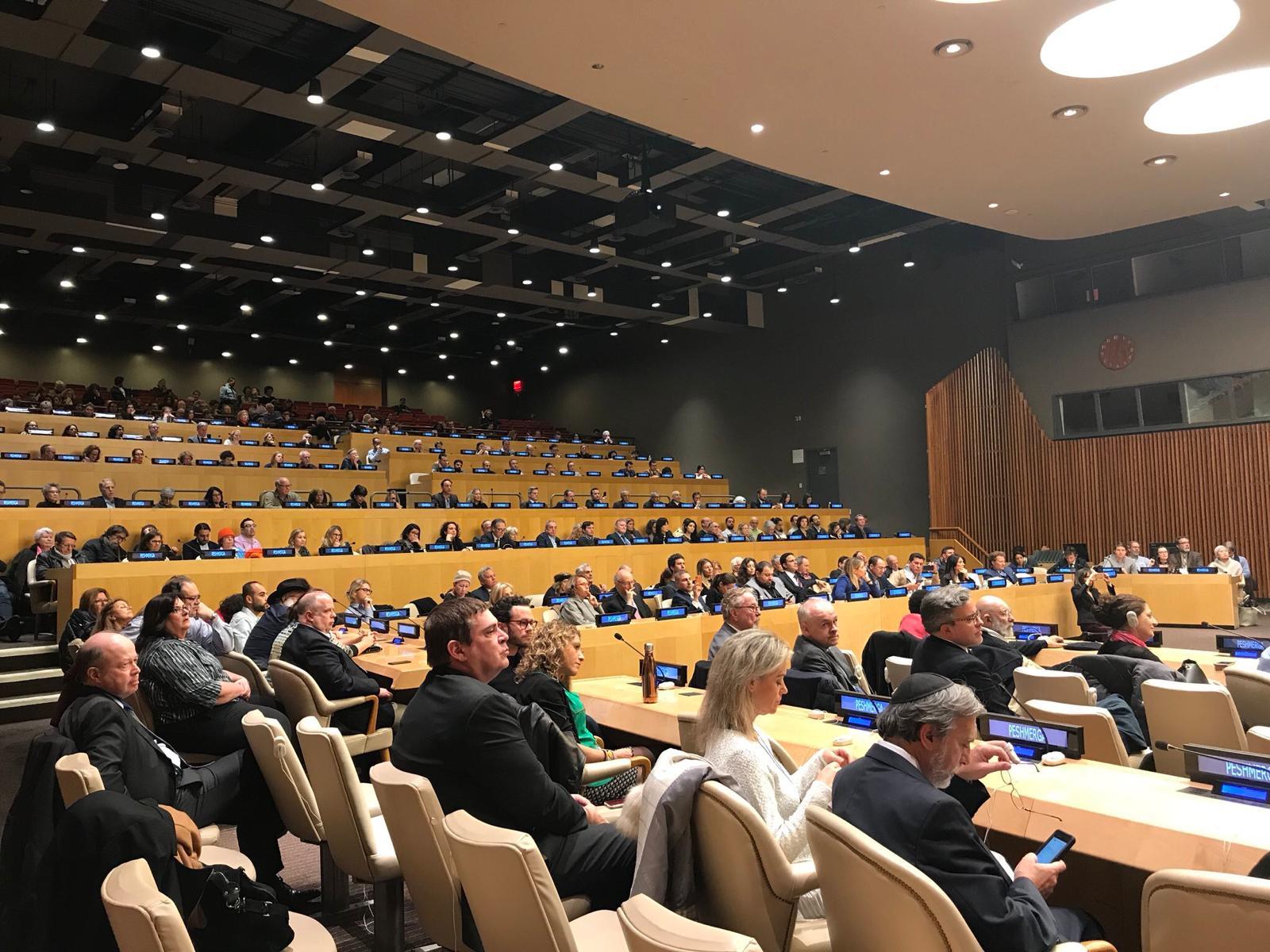 """La projection de """"Peshmerga"""", le 28 novembre 2017, à l'ONU."""