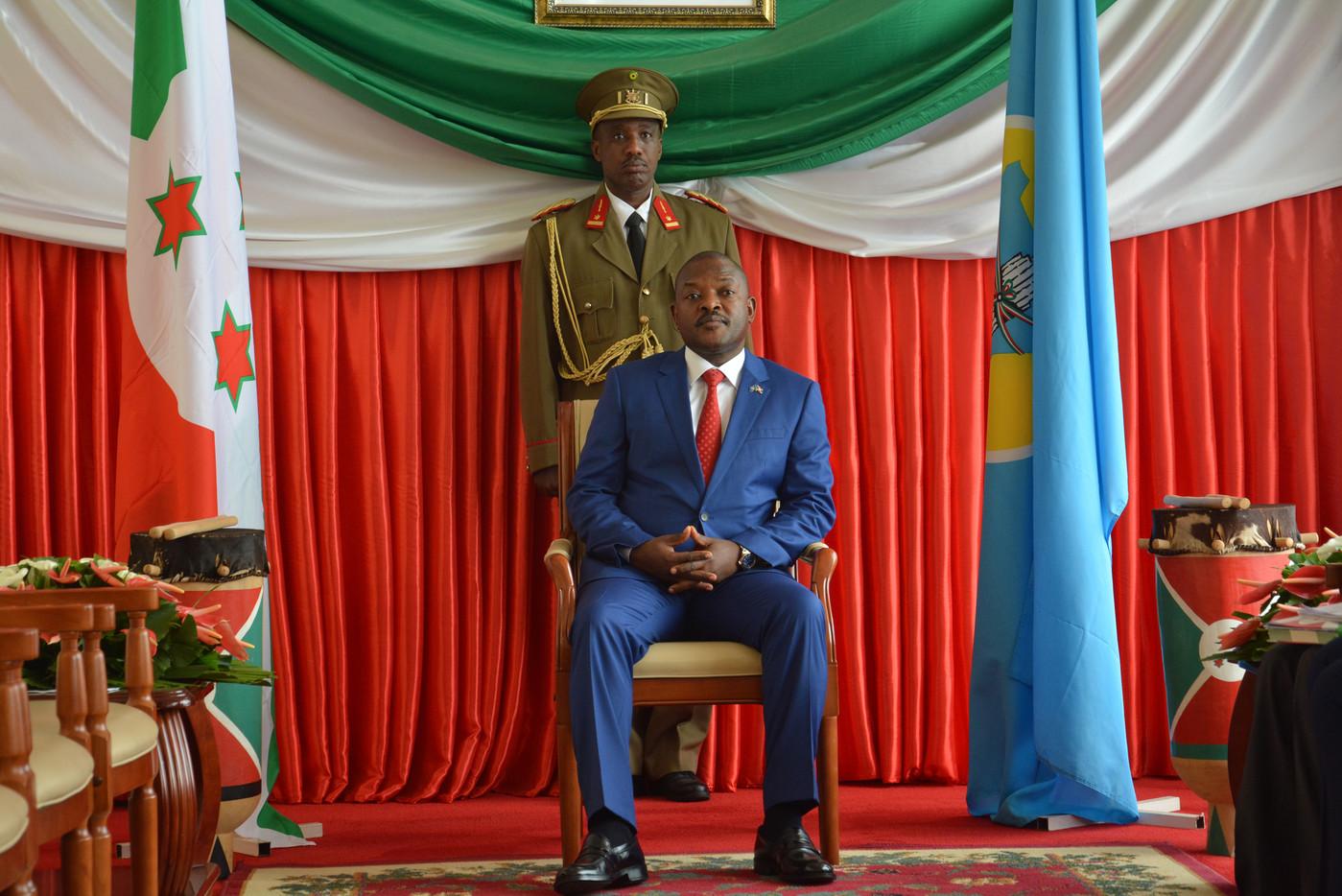 Le Président Pierre Nkurunziza à Bujumbura le 29 juin 2017.