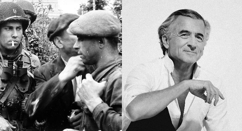 Des membres FTP et Bernard-Henri Lévy.
