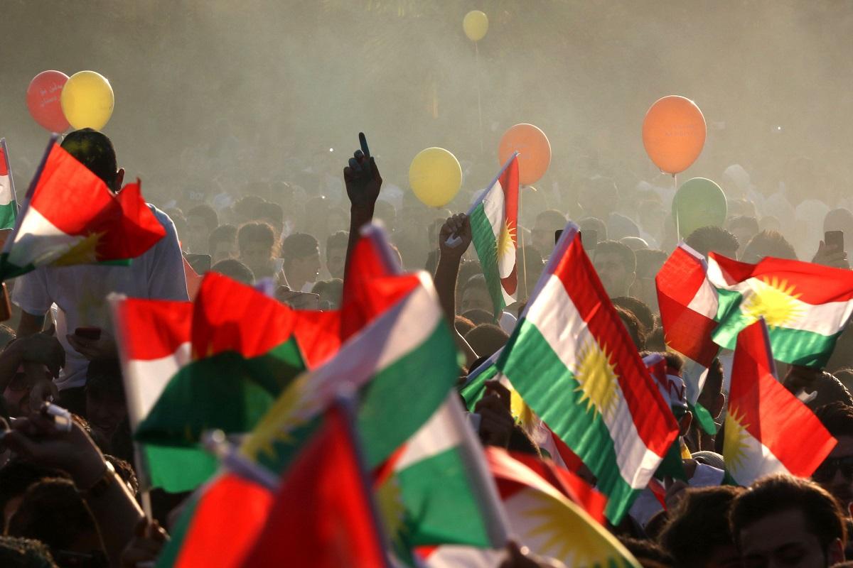Mobilisation pro-référendum sur l'indépendance du Kurdistan à Erbil. (AFP)
