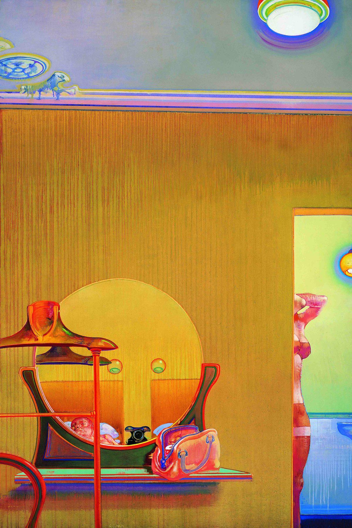 Les-indiscretions-d-une-chambre-1970-1971-huile-sur-toile