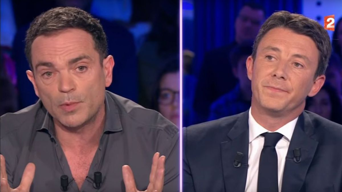 On n'est pas couché, samedi 6 janvier 2016 : Yann Moix et Benjamin Griveaux. Photo : Capture d'écran de l'émission de France 2