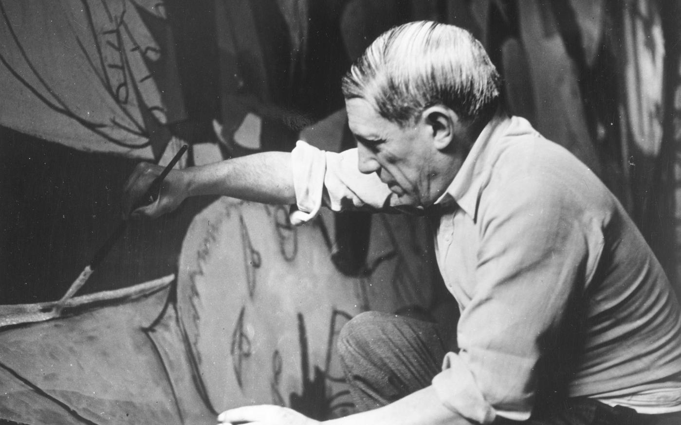 Picasso peignant «Guernica» en 1937. Photo : Dora Maar.