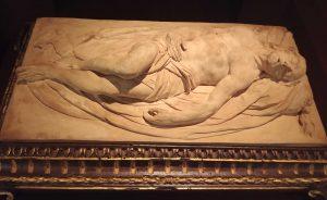 Attribué à Domenico Antonio Vaccaro, Christ déposé de la croix, XVIIIe siècle, terre cuite, galerie Gallo.