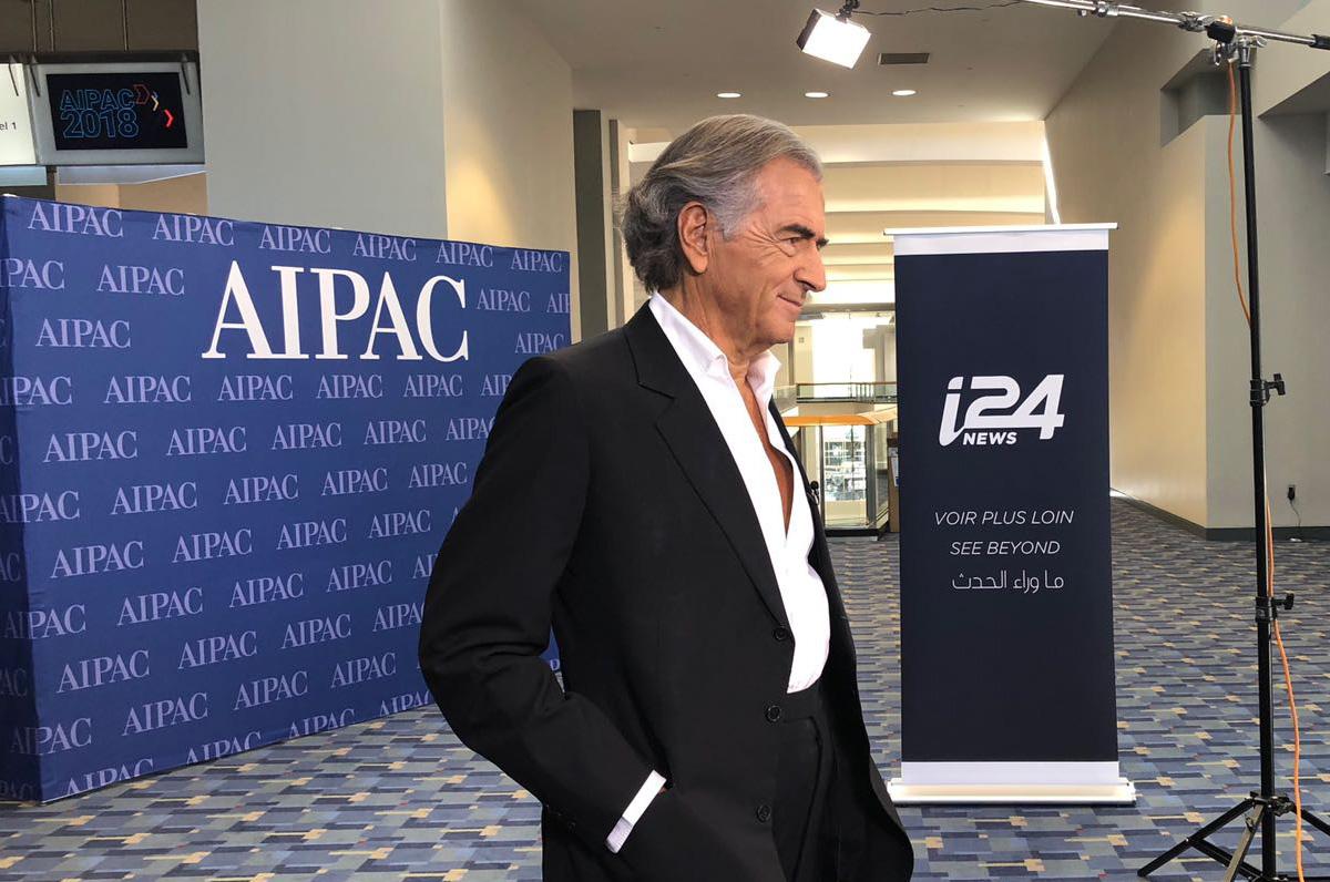 Bernard-Henri Lévy lors de la rencontre organisée par l'AIPAC ce dimanche 4 mars 2018.