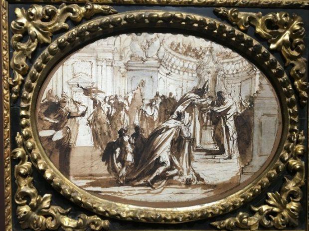 Giovanni Antonio Pellegrini (attribué à), Baptême d'un prince, Galerie Maurizio Nobile.