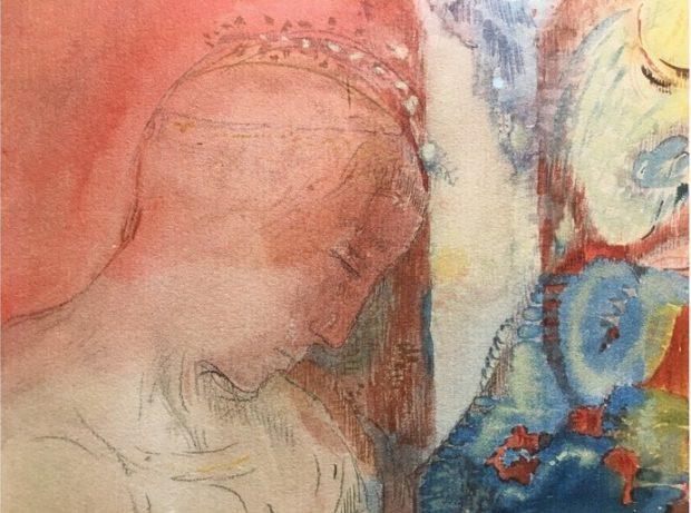 Odilon Redon, Tête couronnée (détail), Galerie de la Présidence.