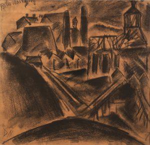 Otto Dix, Billy Montigny, vers 1916, craie noire, 28,5 x 29 cm, galerie de la Présidence.