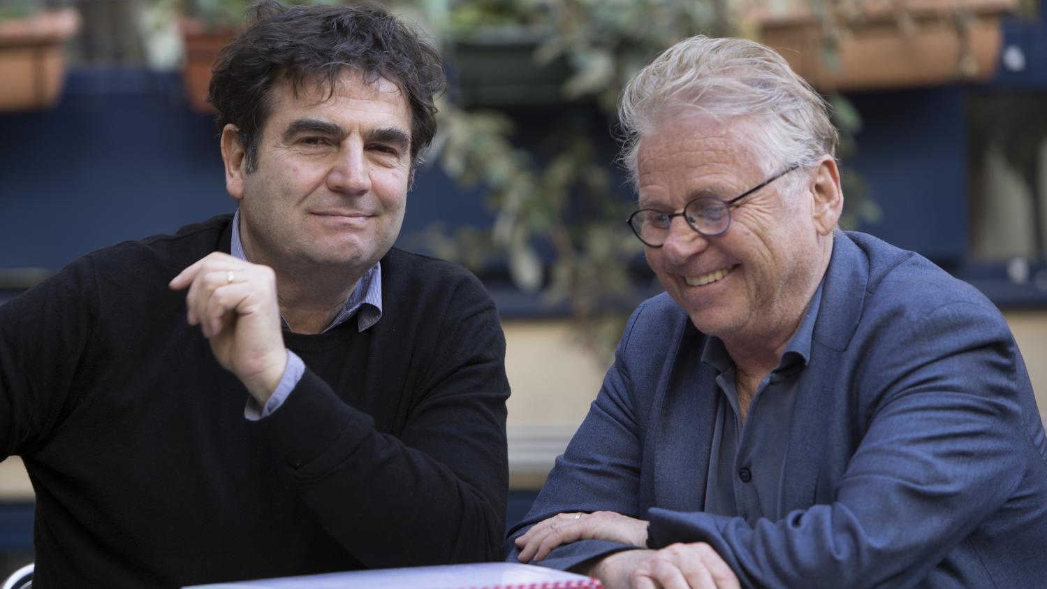 Daniel Cohn Bendit et Romain Goupil.