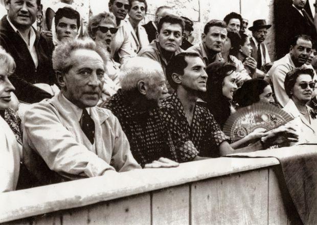 Jean Cocteau et Pablo Picasso par Lucien Clergue.