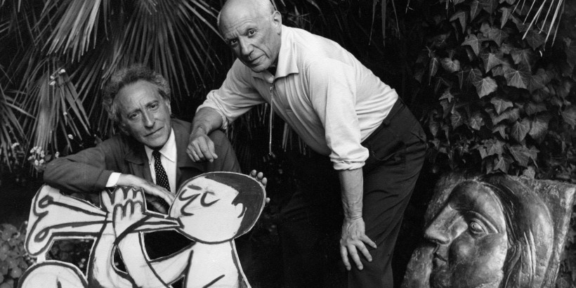 Pablo Picasso et Jean Cocteau. Photo : courtesy of Theocharakis Foundation
