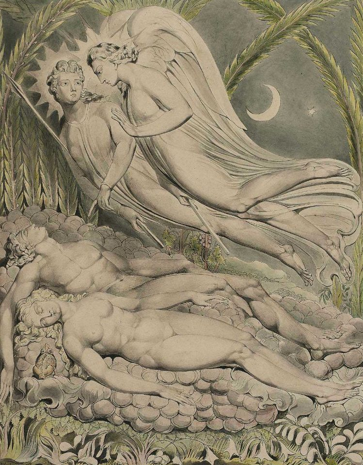 William Blake, Adam and Eve asleep.