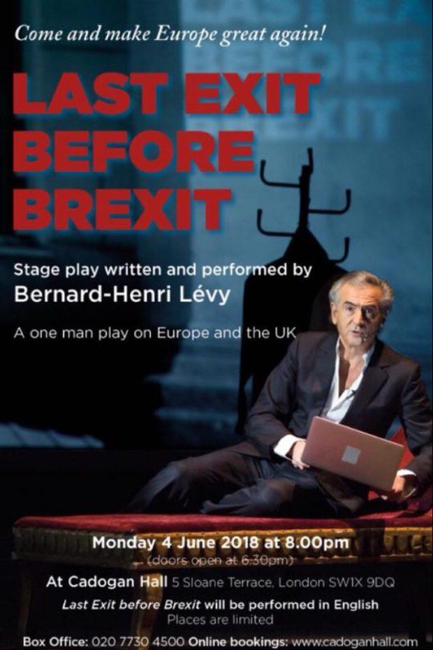 Affiche de Last exit before Brexit de Bernard-Henri Lévy.