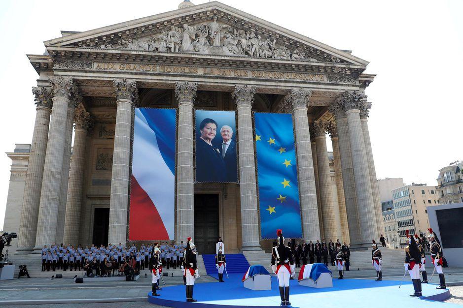 Simone Veil a été inhumée au Panthéon, le 1er juillet 2018, en présence du président Emmanuel Macron.