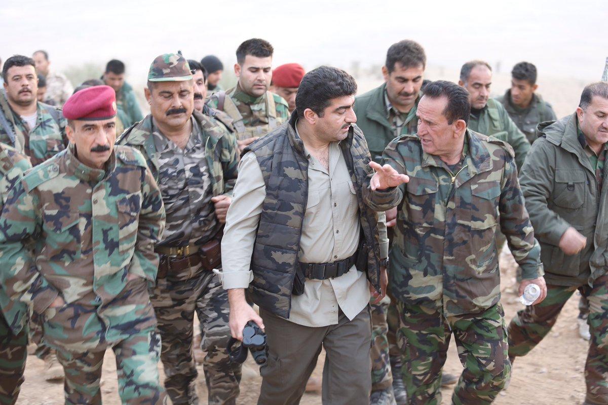 Sirwan Barzani, le général peshmerga qui a mené l'offensive anti-Daech le samedi 24 juin 2018.
