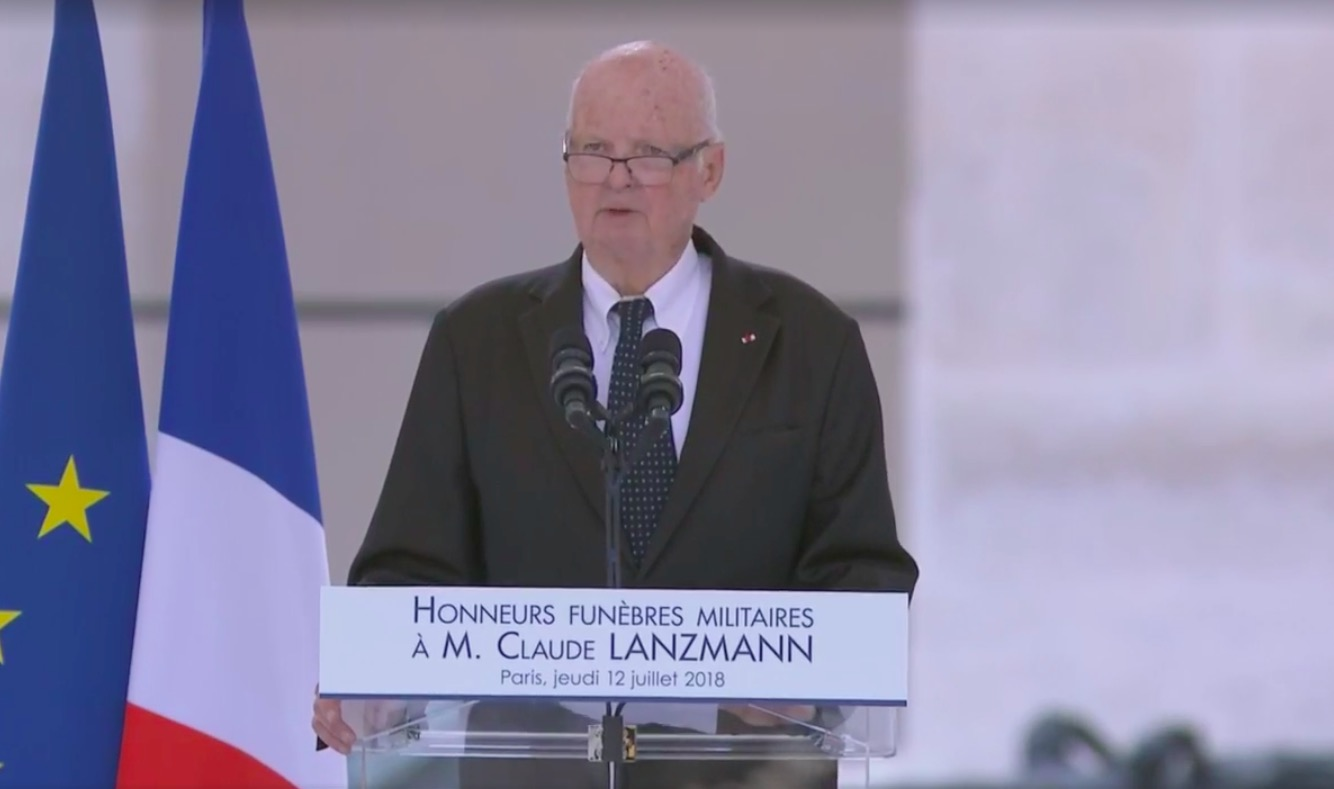 Didier Sicard, professeur de médecine, ancien président du Comité consultatif national d'éthique, lors de hommage national à Claude Lazmann.
