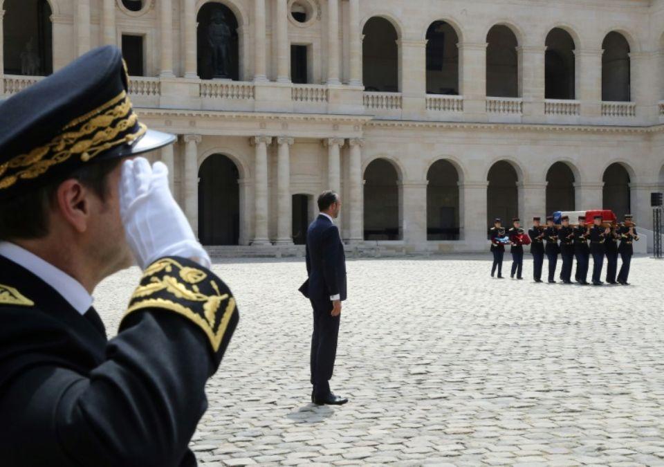 L'hommage à Claude Lanzmann aux Invalides, le jeudi 12 juillet 2018.