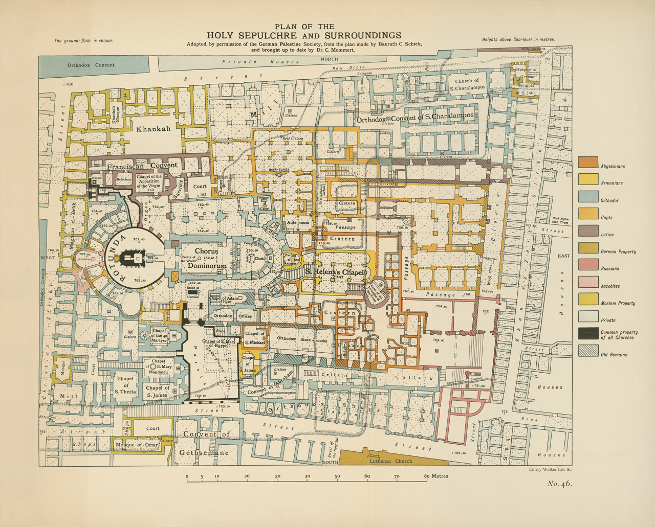 Conrad-S.-Schick-C.-Mommert-K.-Baedeker-Plan-of-the-Holy-Sepulchre-and-surroundings-1898-Courtesy-IAA-Israel-Architecture-Archive