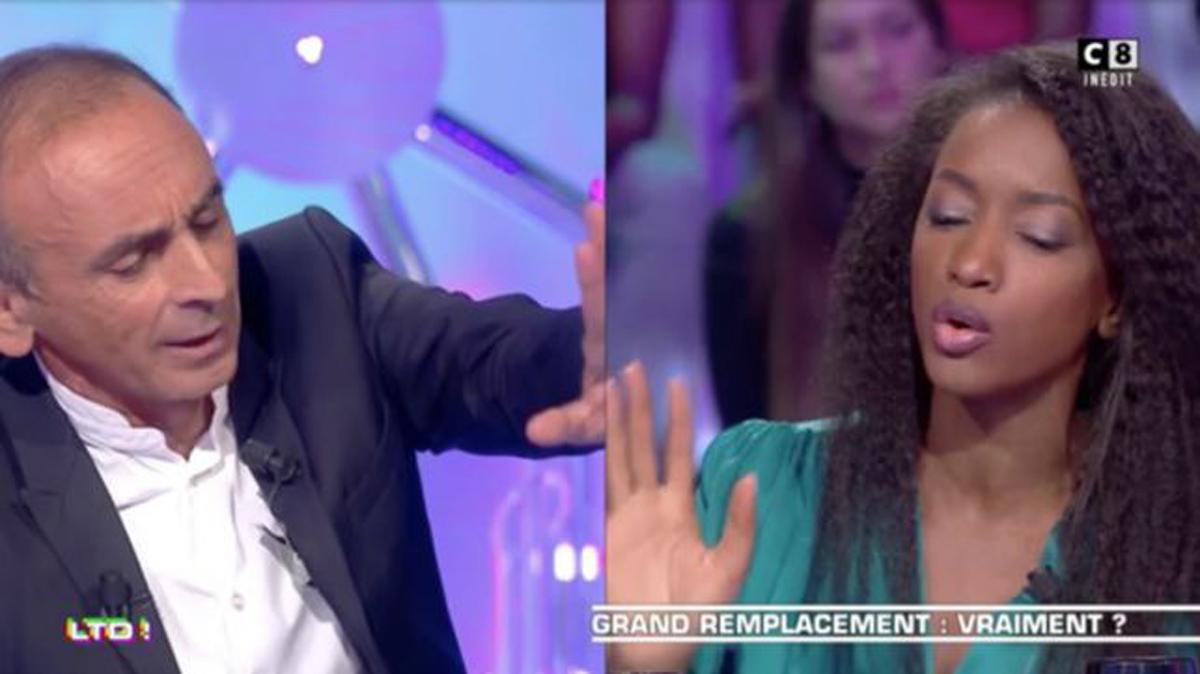 Eric Zemmour et Hapsatou Sy lors de l'émission «Terriens du Dimanche».