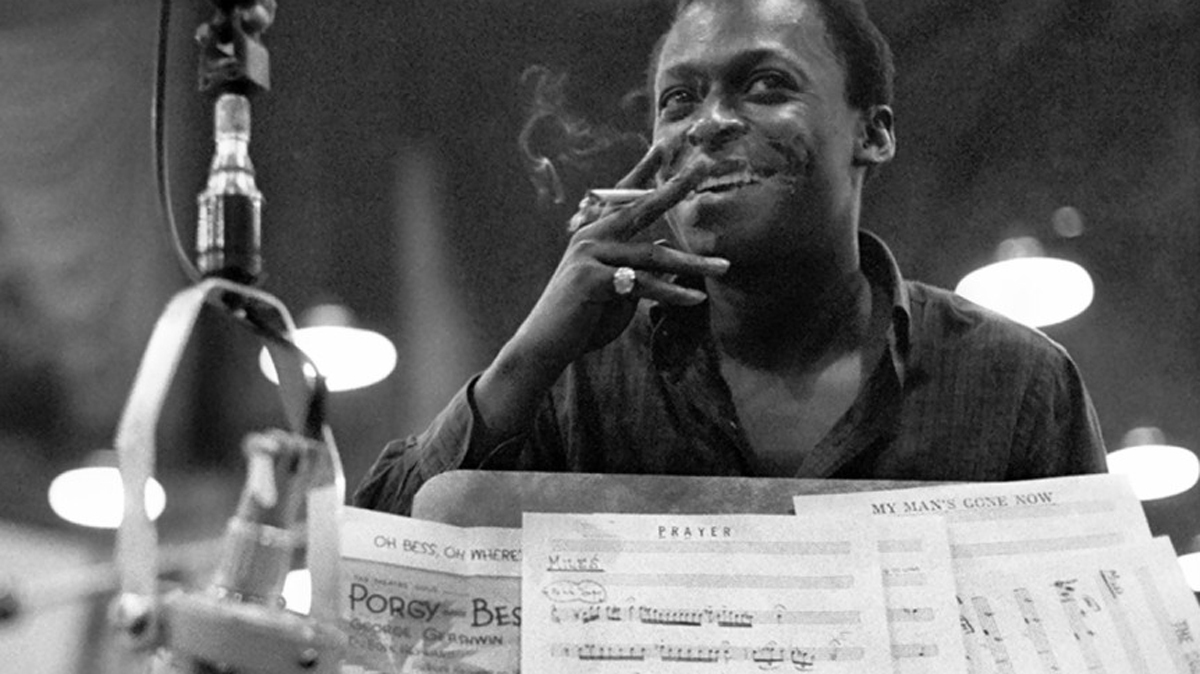 Miles Davis lors de l'enregistrement de Porgy and Bess.